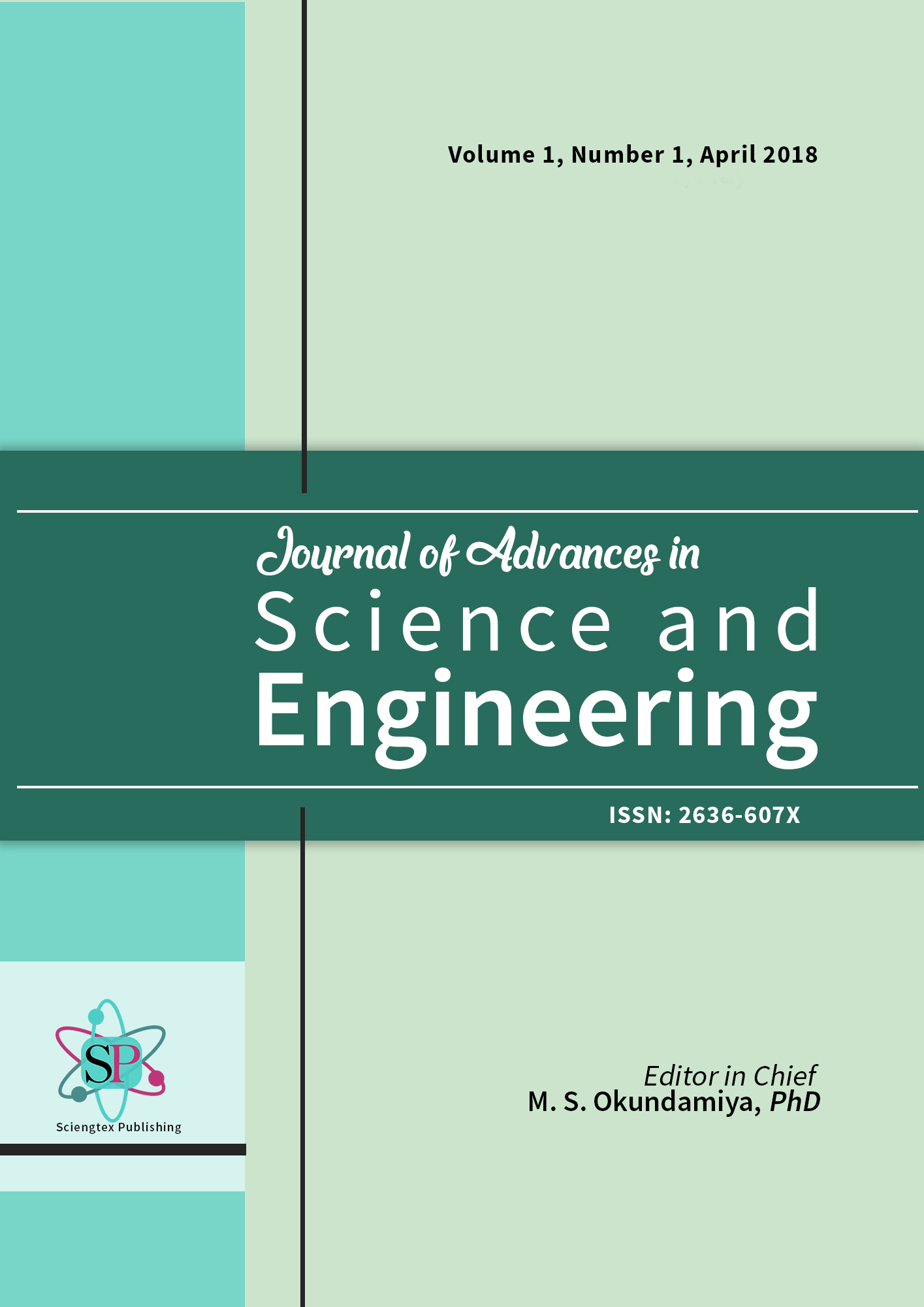 Journal of Advances in Science and Engineering